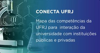 CONECTA UFRJ. Mapa das competências da UFRJ para interação da universidade com instituições públicas e privadas.